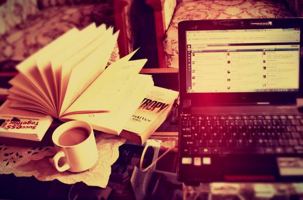 book-coffee-my-pc-in-the-room-part-of-my-home-favim-com-479999